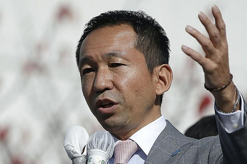 Mr Mineyuki Fukuda (Above) says he will leave the LDP. Japan's former foreign minister Seiji Maehara was elected leader of Japan's main opposition party, the Democratic Party, on Sept 1.