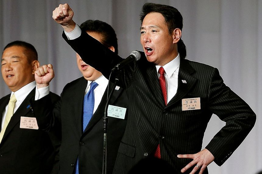 Mr Mineyuki Fukuda says he will leave the LDP. Japan's former foreign minister Seiji Maehara (above) was elected leader of Japan's main opposition party, the Democratic Party, on Sept 1.