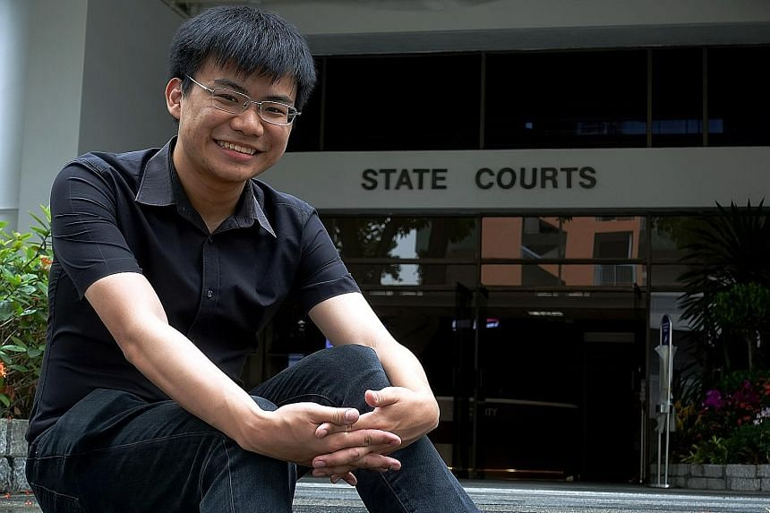 Mr Shaun Lim received the Outstanding Court Volunteer Award in the student category earlier this month for volunteering to help people navigate processes at the State Courts.