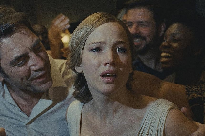 Mother!, starring Jennifer Lawrence and Javier Bardem (both above), is an ambitious parable hidden in a horror flick.