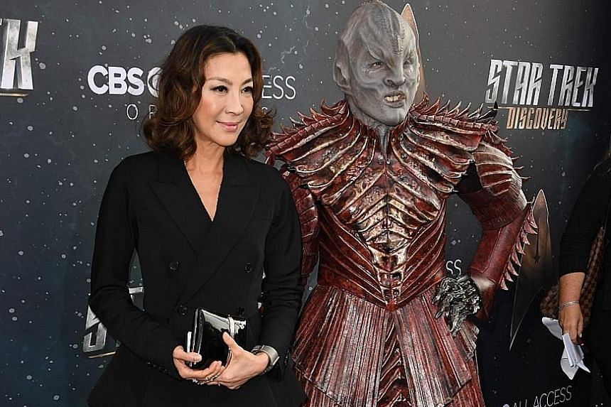 Star Trek: Discovery cast member Michelle Yeoh at the premiere of the show in Hollywood, California, last week.