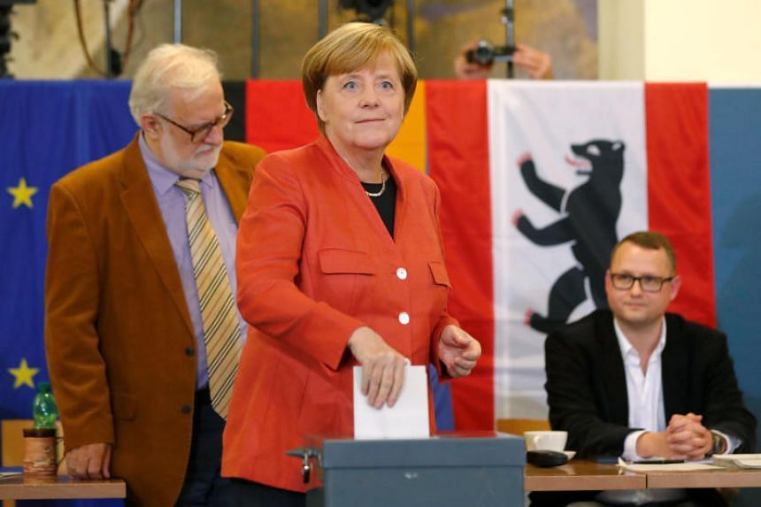 Germany's far-right party Alternative for Germany (AfD), which entered parliament for the first time after the election on Sunday (Sept 24, 2017), vowed to hound German Chancellor Angela Merkel, whose conservative party fared worse than the last elec