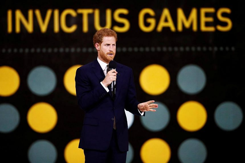 Britain's Prince Harry at the opening ceremony for the Invictus Games in Toronto, Ontario, Canada on Sept 23, 2017.