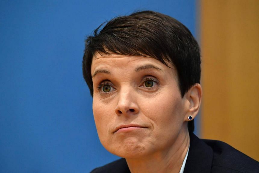 Frauke Petry stormed out of a news conference after saying she would take up her seat but would not be part of AfD's parliamentary group.