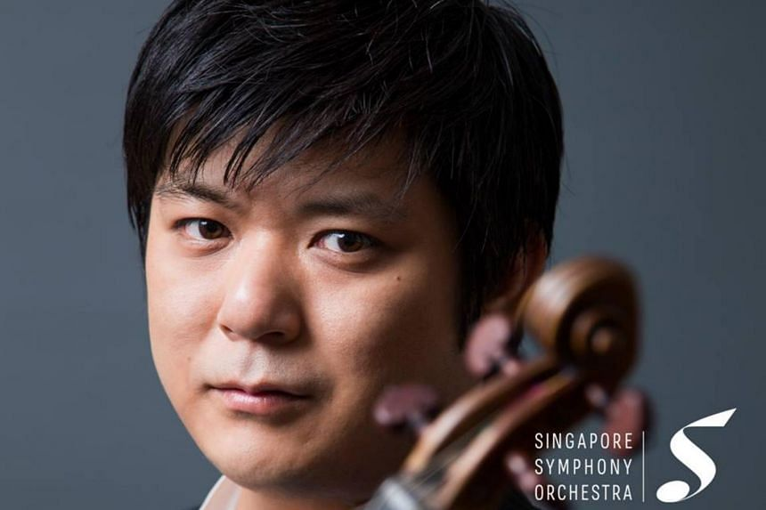 Japanese violinist Daishin Kashimoto, first concertmaster of the Berlin Philharmonic, performed Mendelssohn's Violin Concerto In E Minor.