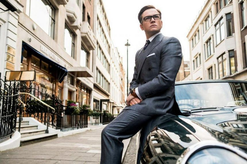 Actor Taron Egerton in Kingsman: The Golden Circle, which dominated North American box offices in its debut weekend.