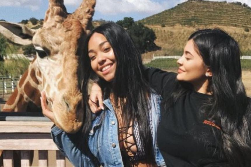 In one post, Kylie Jenner (right) is seen with her best friend Jordyn Woods, reportedly at Malibu Wine Safaris.