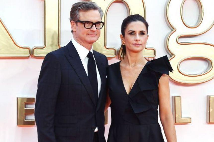 Actor Colin Firth with his wife, Italian film producer Livia Giuggioli.