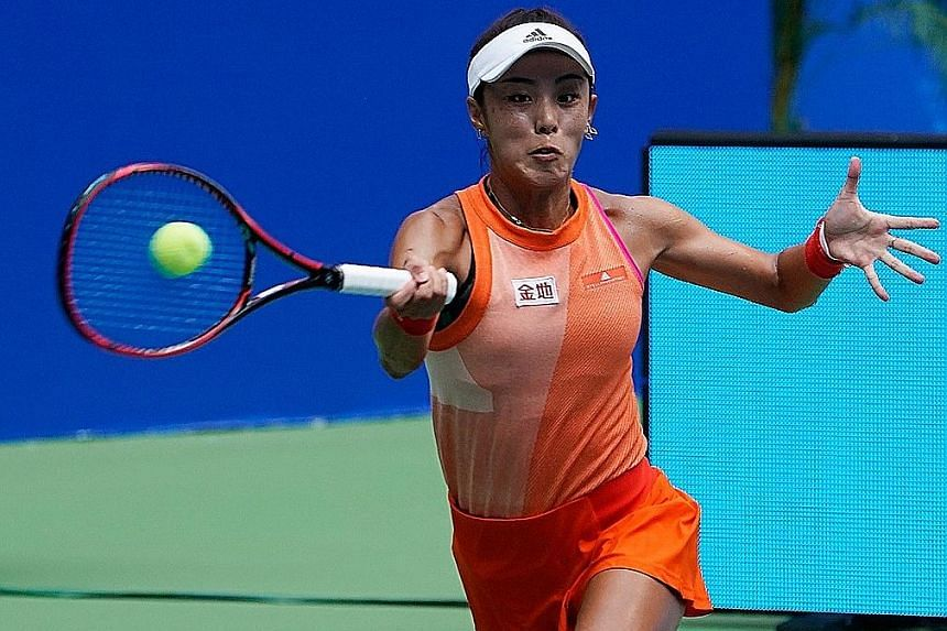 Backed by the home crowd, China's Wang Qiang played well above expectations to upset US Open champion Sloane Stephens.