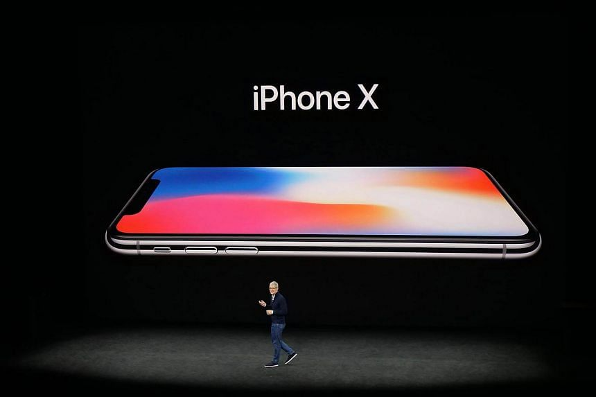 Apple CEO Tim Cook launching the new iPhone X during a media event at Steve Jobs Theater at Apple Park, Cupertino.