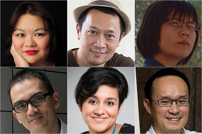 (Clockwise from top left) Among the authors longlisted for the Epigram Books Fiction Prize are Judith Huang, Sebastian Sim, Carissa Foo, Tham Cheng-E, Akshita Nanda and Andre Yeo.