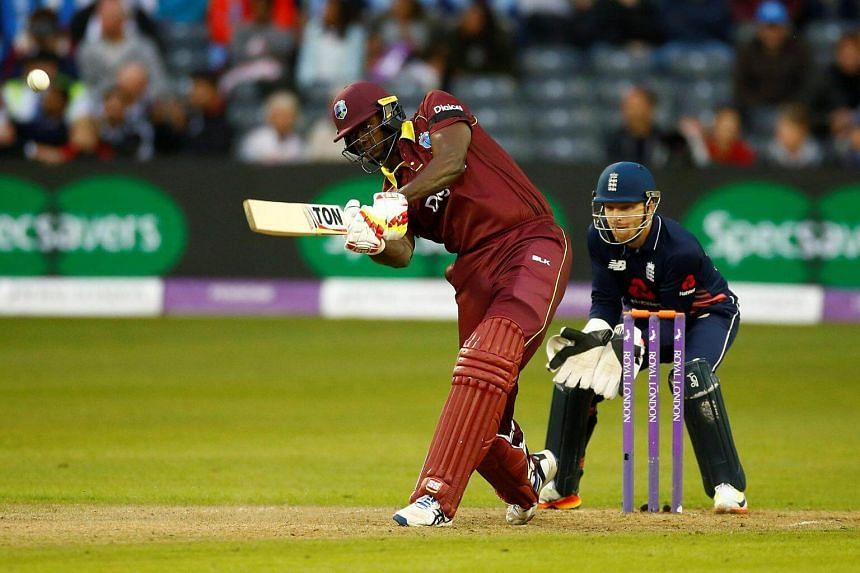 West Indies' Jason Holder in action.