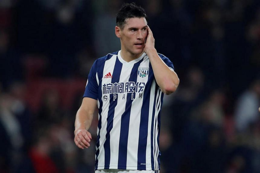 West Bromwich Albion's Gareth Barry during the Premiere League on Sept 25, 2017.