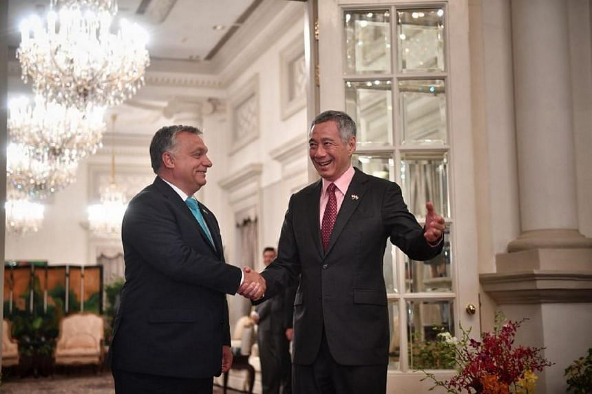 Prime Minister Lee Hsien Loong thanked Hungarian Prime Minister Viktor Orban for Hungary's support for the air transport agreement as well as the ratification of the European Union-Singapore Free Trade Agreement.