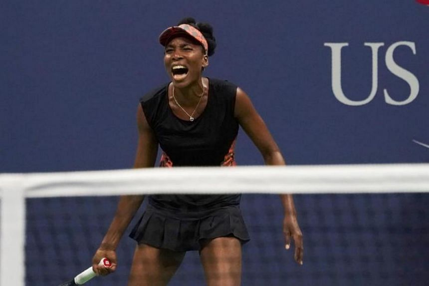 Venus Williams during the 2017 US Open Women's Singles semifinals match at the USTA Billie Jean King National Tennis Center in New York on Sept 6, 2017.