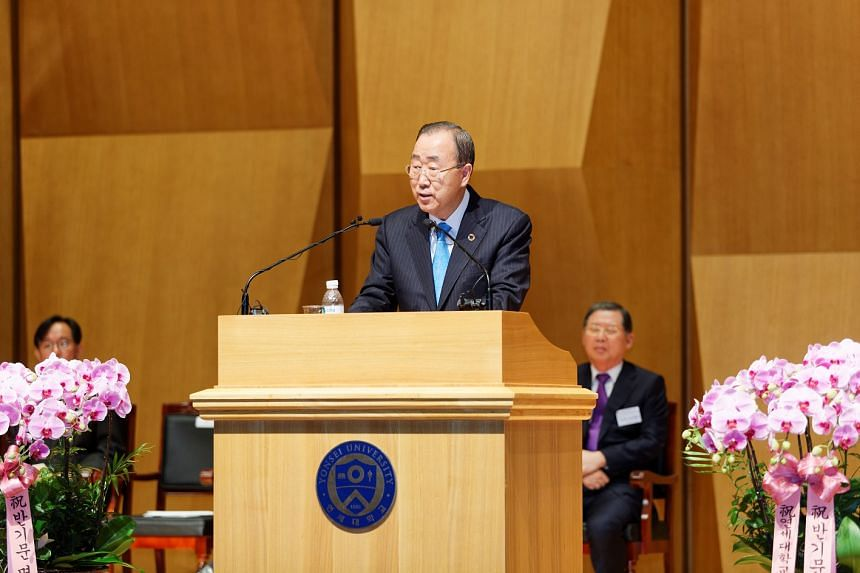 """Ban Ki Moon emphasised the need to """"act rigorously"""" to fight climate change and its impact on the environment, so that the future generation will not """"lose their place to live""""."""