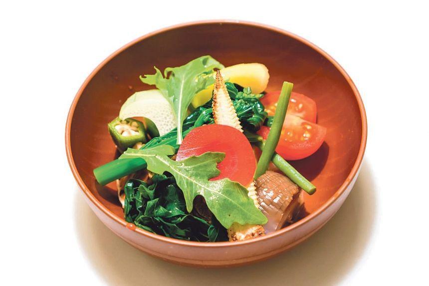 Gado gado of market vegetables.