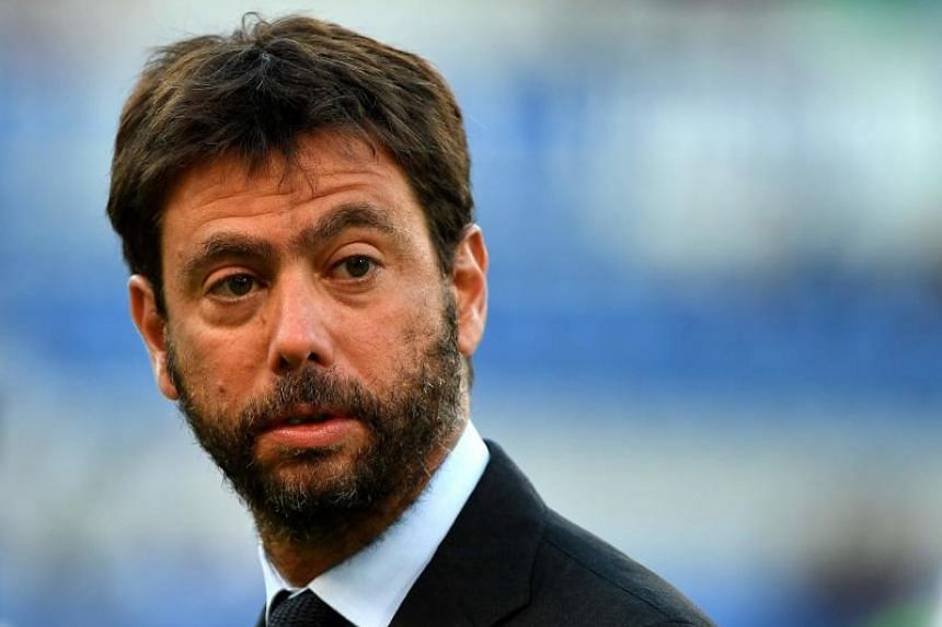 Juventus's president Andrea Agnelli looks on during the Italian SuperCup TIM football match in Rome on Aug 13, 2017.
