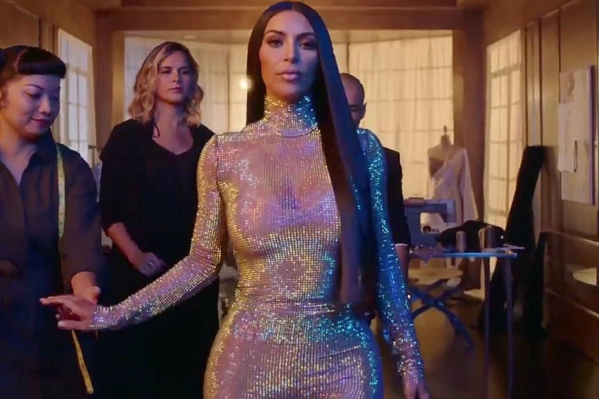 Kim Kardashian West seen in a scene from the trailer of Season 14 of Keeping Up With The Kardashians.