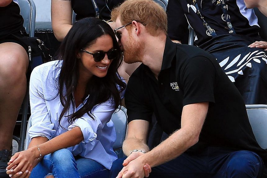 Prince Harry and Meghan Markle at Toronto's Invictus Games.