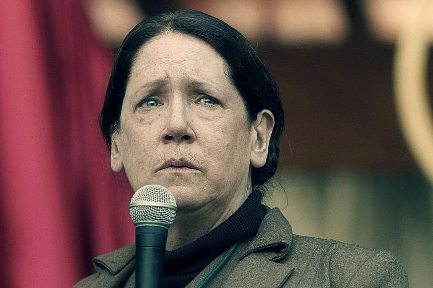 Online-only service Hulu's The Handmaid's Tale (starring Ann Dowd, above) won five Emmys this month.