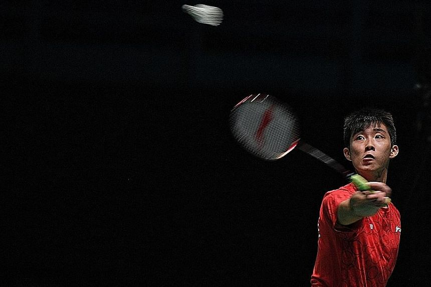 Loh Kean Yew in Singapore's 0-3 loss to hosts Malaysia in the SEA Games team semi-finals last month. Last Saturday, he won the OUE Singapore International Series, following his victory in the Malaysia International Series in July. His training has be