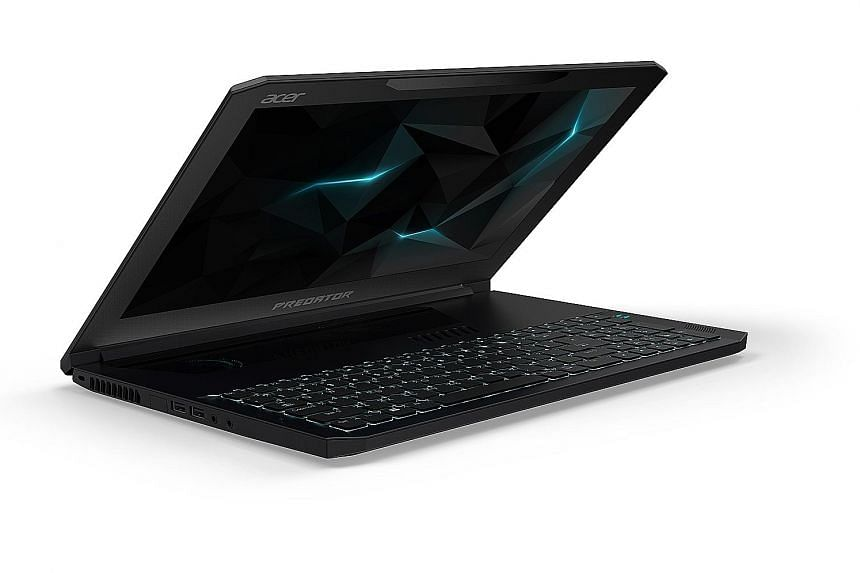 The positioning of the Predator Triton's keyboard means it is not directly on top of the graphics chip, which gets very warm while running a game.
