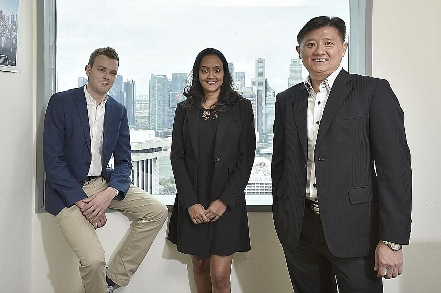 Smartly CEO and co-founder Artur Luhaaar, compliance officer Sheila Panja and VCG Partners CEO and executive director Jason Ng. Smartly is a robo-advisory investment platform targeted at retail investors who do not want the fuss of picking out and th
