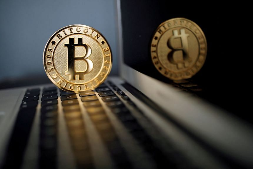 A Bitcoin (virtual currency) coin is seen in an illustration picture.