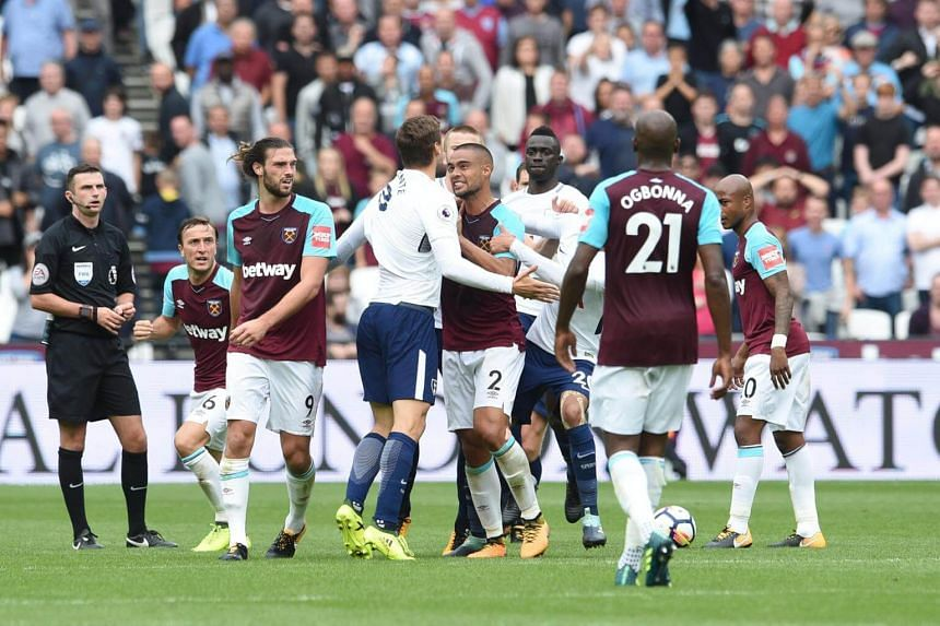 The English Premier League match between West Ham and Tottenham Hotspurs at the London stadium on Sept 23, 2017.