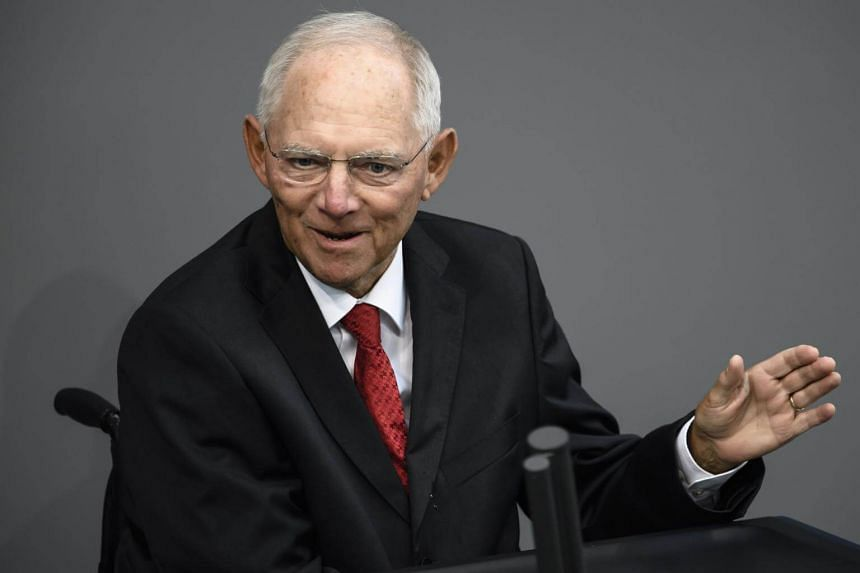 German Finance Minister Wolfgang Schaeuble had been urged by Chancellor Angela Merkel to take the post of president of the Bundestag parliament, and had agreed to do so.