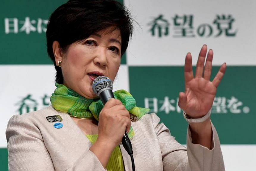 "Yuriko Koike announced that she would form her own party, named ""Party of Hope"", to contest the Liberal Democratic party in the upcoming snap elections."