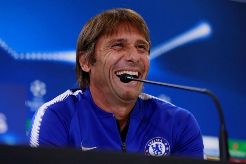 Chelsea manager Antonio Conte during the Chelsea press conference, in Wanda Metropolitano, Madrid, Spain, on Sept 26, 2017.