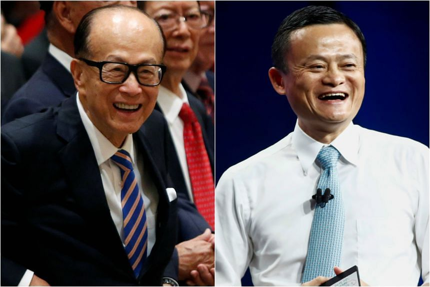 Li Ka Shing (left) and Jack Ma will form a joint venture to offer a digital wallet service in Hong Kong.