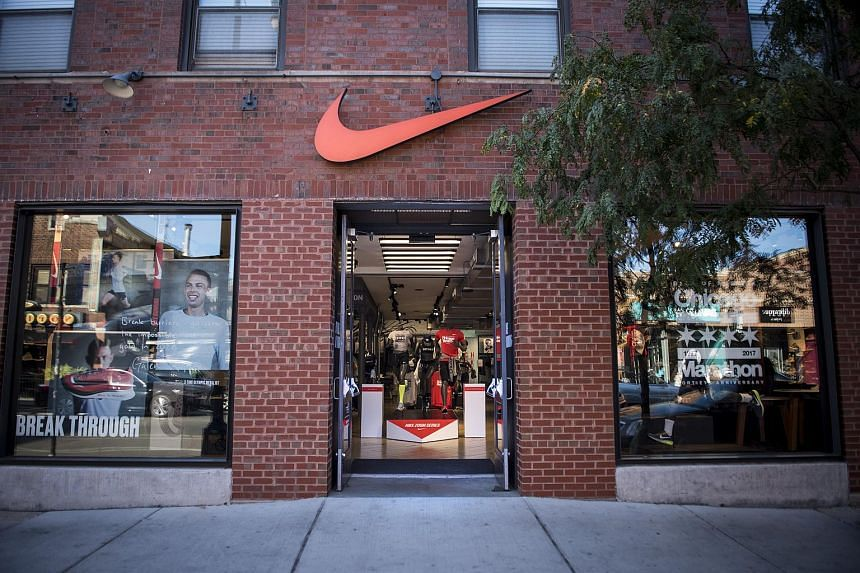 A Nike store stands in Chicago, Illinois, on Sept 24, 2017.