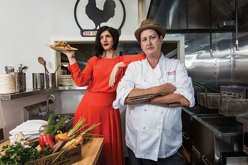 Serafina Palandech (left) and chef Jennifer Johnson have launched what they call the world's first chicken nugget tasting room in Sebastopol, California.