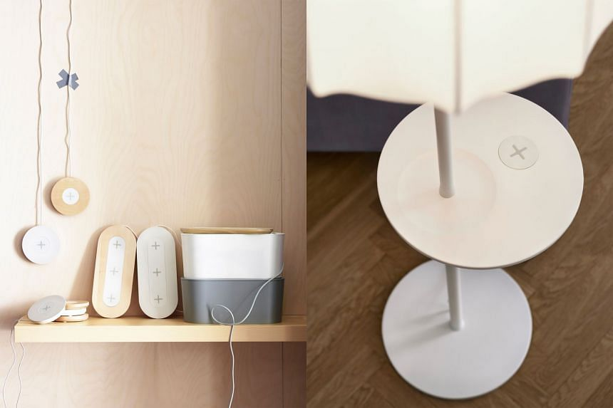 Ikea wireless charging pads and furniture