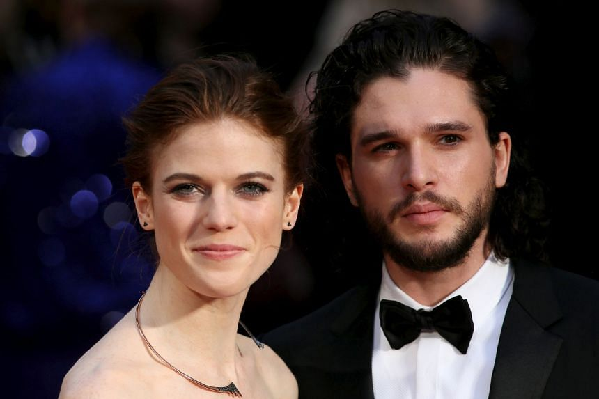 Kit Harington and Rose Leslie at the Olivier Awards in London in 2016.