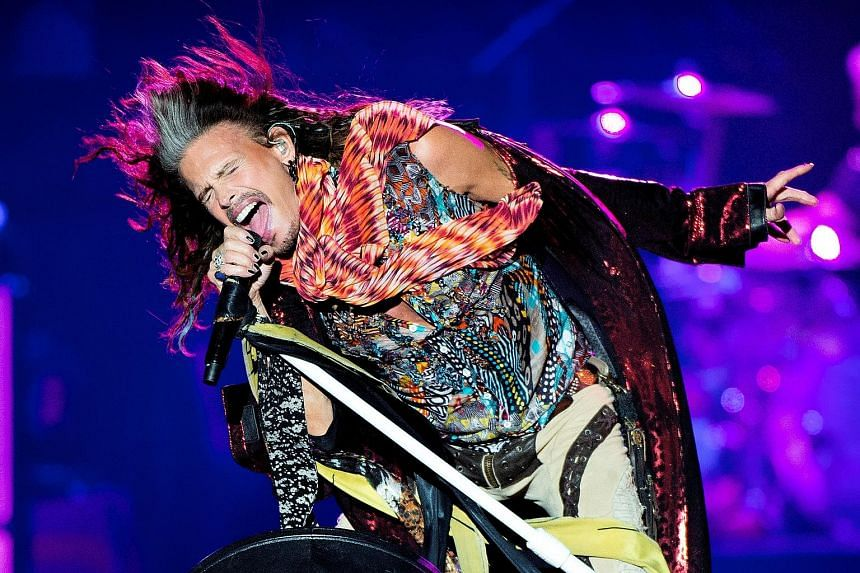 """Aerosmith's Steven Tyler, seen here performing at the Royal Arena in Copenhagen in June, flew back to the United States due to """"unexpected medical issues""""."""