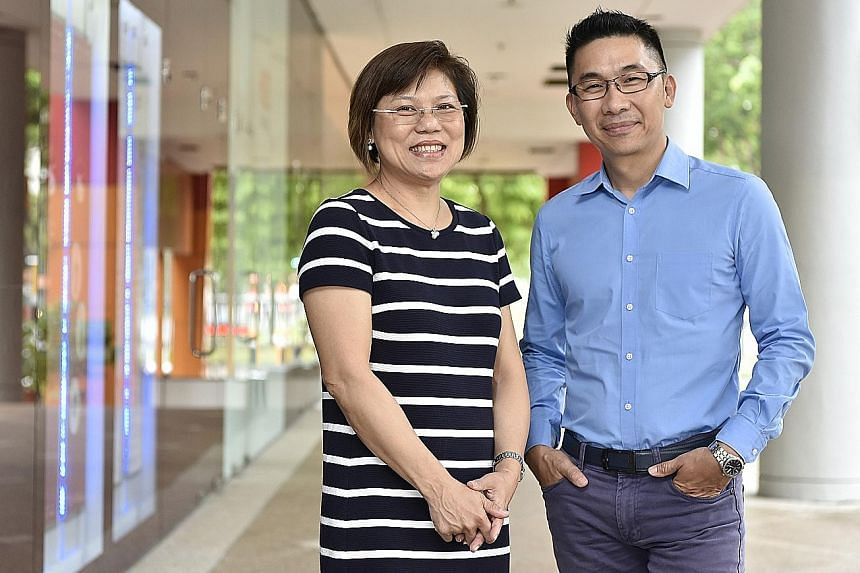 Ms Eileen Soh and Mr Allan Liong are among the 52 who have signed up as employability ambassadors.