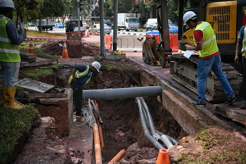 Repair Works On To Fix Burst Pipe That Sprang A Fountain