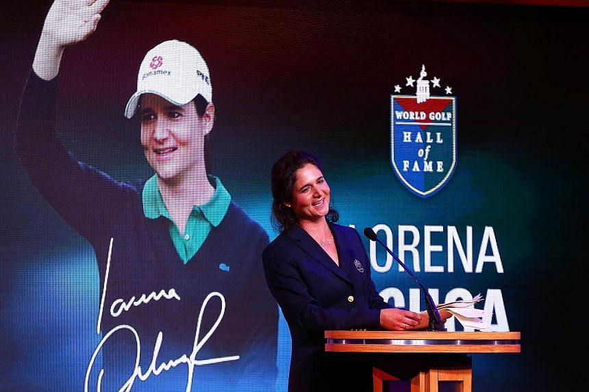Mother of three Lorena Ochoa, who has two Majors among her 27 LPGA titles, joked that writing her inductee speech was probably harder than having a baby. She was among four golf greats inducted into the World Golf Hall of Fame.