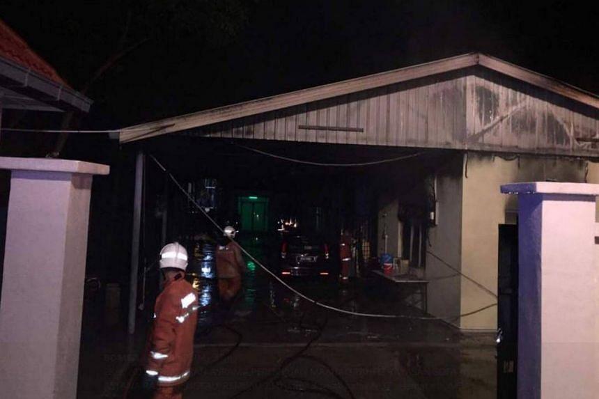 The Maahad Tahfiz Yayasan Sofa hostel was 60 per cent damaged in the blaze.