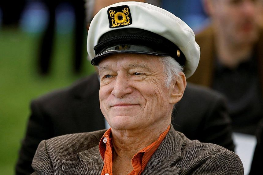 Playboy magazine founder Hugh Hefner at the Playboy Mansion in Los Angeles, California, on Feb 10, 2011.