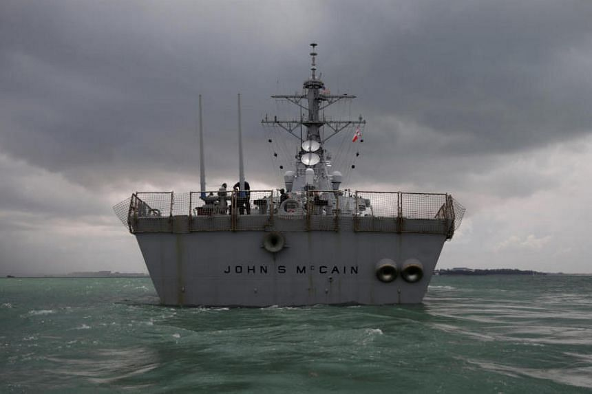 The USS John S. McCain, which has been berthed at Changi Naval Base since the accident, will leave Singapore for Yokosuka, Japan, sometime next month.