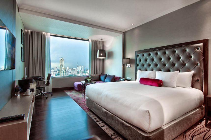The rooms at Radisson Blu Plaza Bangkok have great views of the bustling city.