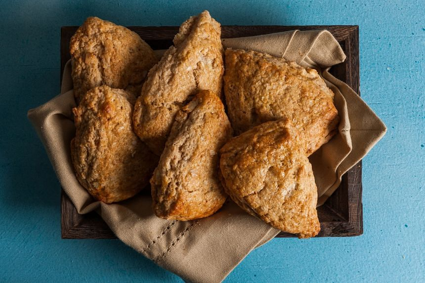 These scones spread a little bit more than the usual scones but taste great anyway. PHOTO: GORAN KOSANOVIC