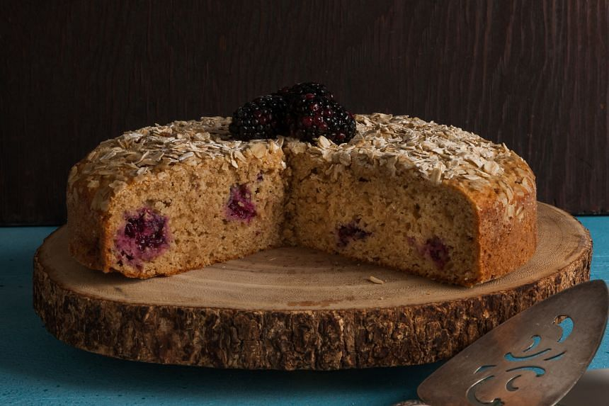 This blackberry cake gets a bit of zing with the addition of black pepper. PHOTO: GORAN KOSANOVIC