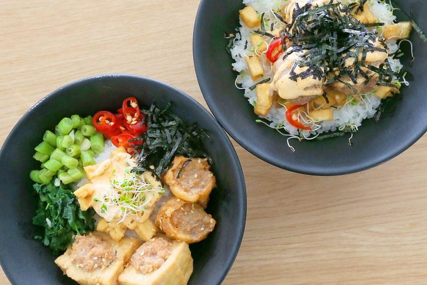 Ah Lock Tofu Dian's signature dish mashes up two traditional dishes.