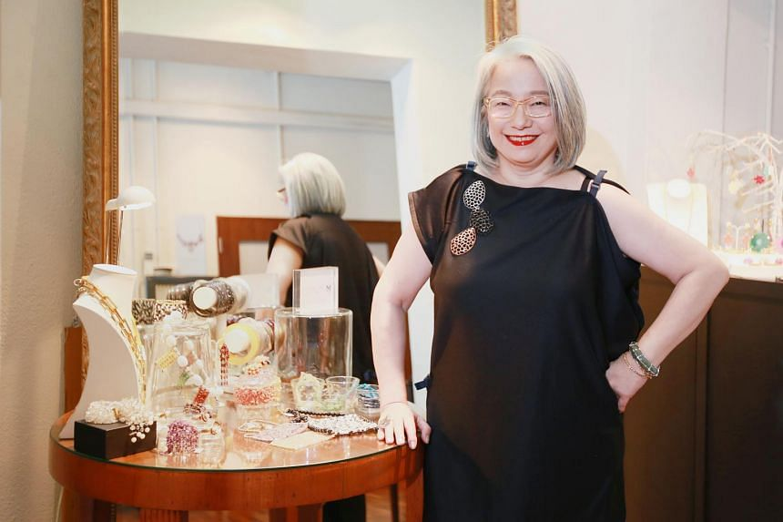 Jewellery designer Marilyn Tan whose line of jewellery is called MTJ (Marilyn Tan Jewellery).